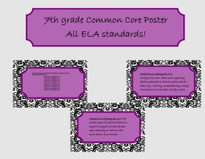 7th grade common core posters pictures