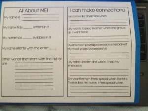 Back cover of lapbook