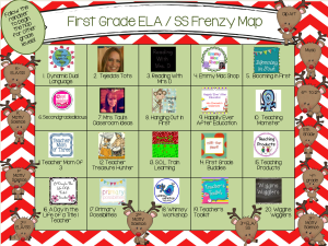 December Frenzy order 1st grade ela and ss final