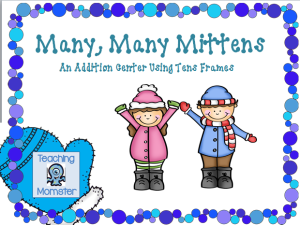 Addition mittens cover picture