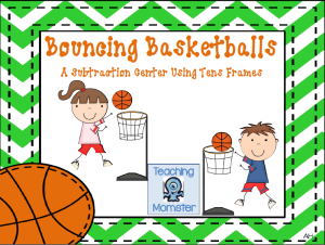 Math ten frames center basketballs cover picture