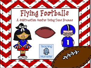 Math ten frames center footballs cover picture