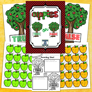 Apple Math--True or false file folder activity