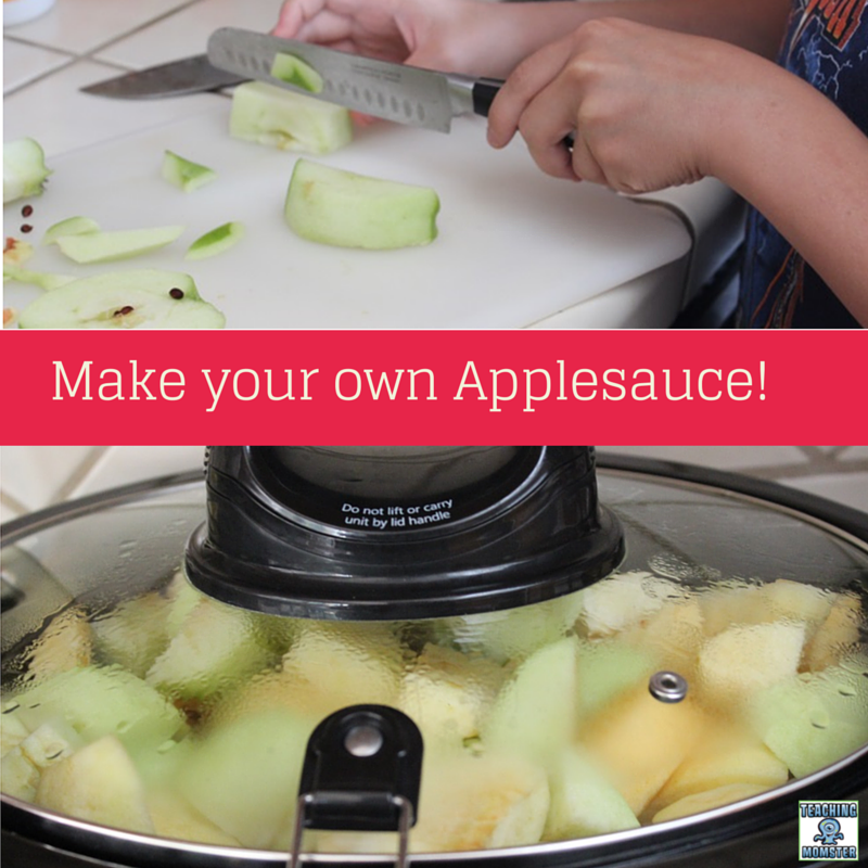 Make Your own Applesauce! Recipe and activities included.