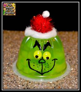 grinch jellow cup with border
