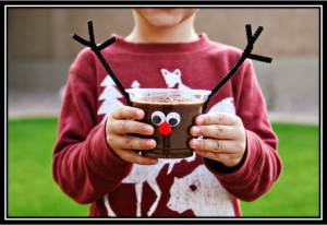 reindeer pudding cup with border