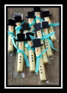 snowman string cheese with border