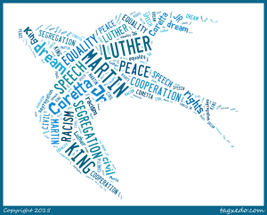 martin luther king wordle