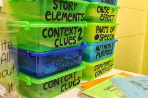 Task card storage Life in First Grade