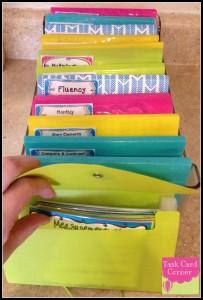 task card storage folders