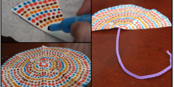 Coffee filter symmetrical designs can be turned into other things, like an umbrella by Teaching Momster