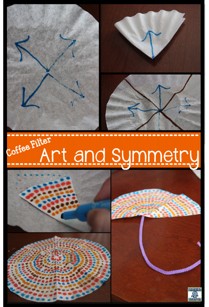 Coffee filter art and symmetry by Teaching Momster