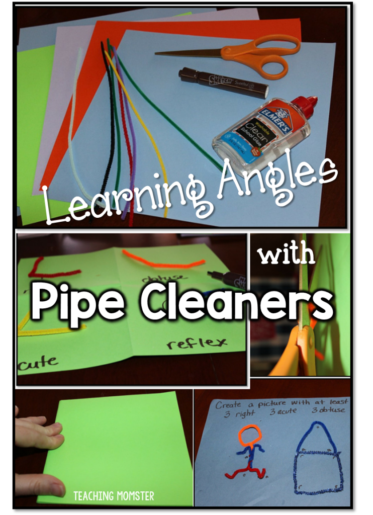 Learn types of angles with pipe cleaners
